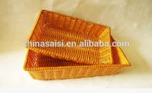 PVC wicker basket, bread basket, fruit basket