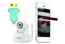 Heart Rate Temperature IP Camera Wireless Baby Monitor / baby monitor camera recorder