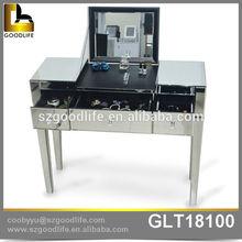 Home storage organization modern vanity Wooden mirrored table