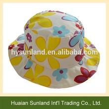 W-1088 kids casual fisherman cap sunflower sun hat children bucket hats