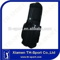 heavily padded black nylon golf travel bag with wheel