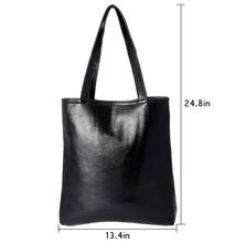 Korean Style New Fashion Women black zip lock shopping Bag SV013744