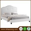 madeira tecido duplo cama com cabeceira