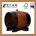 Respetuoso del medio ambiente de madera de pino de madera del barril de vino con aro de metal para la venta