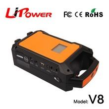 12V/24V 36000mAh Polymer Li-ion battery portable battery powered outlet with LED light