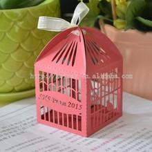 laser cut wedding birds favors wedding,bird cage candy box