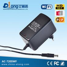 Black power plug wall hidden camera support AP/P2P/WIFI/TF card
