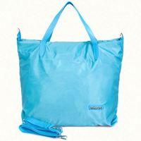 Customized glossy black body shopping bag