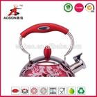 inox/steel enamel whistling tea kettle