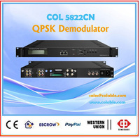 DVB-S2 receiver catv headend, free to air satellite receiver, rf/ asi input receiver to asi/ip/av out