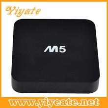 Promoting price yiyate !!! 1GB ram 8 GB flash support XBMC M5 quad core 1080p android tv box dvb t2
