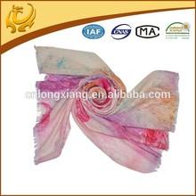 latest fashion low MOQ woman cashmere shawl for winter