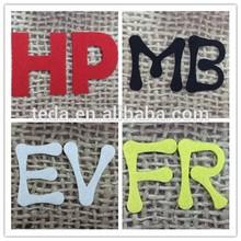 laser cut felt on English alphabet letter patch