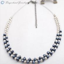 Korean Style Fashion Short Necklace Plain Chain Rosary Bead Necklace Zinc Alloy Statement Necklace