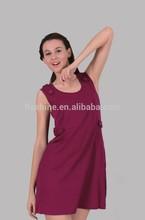 The merino wool o-neck dress of women