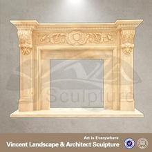 2015 hot sale garden decor marble fireplace mantel surrounds designs