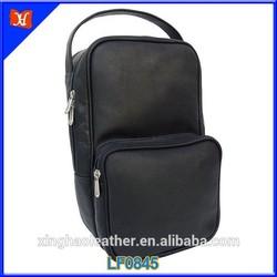 2015 Fashion Leather tendency genuine leather golf shoe bag