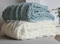 50db86 100% de acrílico hecho a mano de gran tamaño de punto cable manta, tejidas a mano de algodón blanketsted edredones