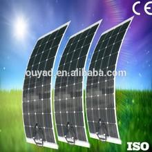 2015 High efficiency Sunpower cell marine semi flexible solar panel 50W for car or boat