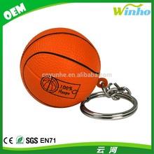 Winho custom pu stress basketball keychain with sport