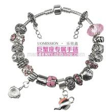Fashion Design Women Charm Bracelet Trendy Style Jewelry Sterling Silver 925 Love Lock Bracelets Jewlry Brand Best Gift