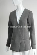 Fashion women neoprene knit jacket
