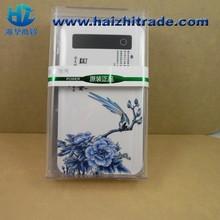 Shenzhen factory 6800mah LED display Power Bank Rechargable BLUE and White power bank /Mobile Fashion portable power bank