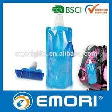 Customized colorful EU foodgrade Safety / LFGB / FDA / BPA free 480ml plastic foldable bag