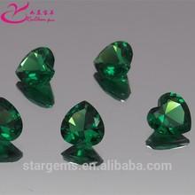 wax setting heart shape emerald green nano gems