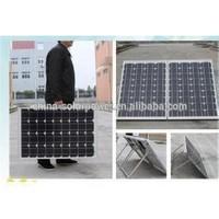 A grade cell top quality 200w portable folding solar panel kits