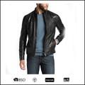 Atacado 2014 novo Design de alta qualidade dos homens Zipper projetado PU blazer de couro para homens