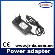 JR EU/UK/US/AU standard wall charger 9V 1A 2A power adapter,switching ac/dc power supply for tablet