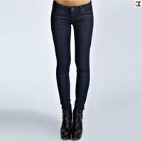 2015 hot style dark blue low waist five pockets skinny jeans JXC00236
