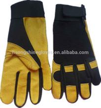 Leather mechanic work gloves deerskin utility gloves pigskin mechanic gloves