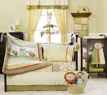 European Style Cotton Crib Baby Bedding Set baby comforter set