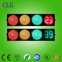 400mm red&green&yellow full ball+countdown meter red green led chinese traffic light price AC85-264V/DC12V
