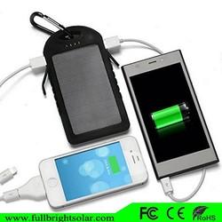 5000mah Waterproof Dual USB Solar Power Bank Charger