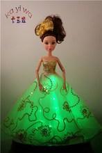 KaYiWa Yellow Barbie Dolls Princess Dress / KYW Lumionus Party Favors