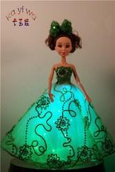 Fashionable Wedding Decoration Dolls / Green Light Up Toys for Kids
