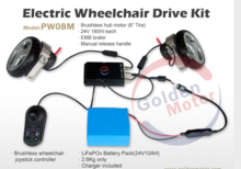 electric wheelchair conversion kit /wheelchair hub motor