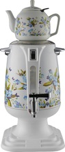 Fashionable home appliance Stainless steel Russian samovar with printed