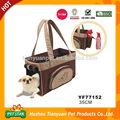 de alta calidad superior abierta de moda de lujo portadores del perro bolsa con bolsillo lateral para la botella