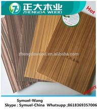 2-18mm competive price Natural ash / oak / teak veneer decorative plywood sheet for furniture