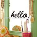 zooyoo8252vinyl hello extraíbles de la pared calcomanía reutilizables etiqueta de las artes y la artesanía para el hogar etiqueta espejo