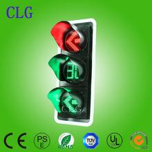 400mm red&green driveway arrow +countdown timer led mini traffic signal light AC85-264V/DC12V