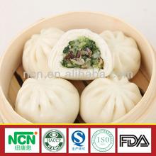 IQF Organic Wheat Flour Steamed Bun Stuffed with Mushroom and Vegetables