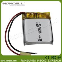 502325 lithium polymer 3.7v 250mah battery for pen camera