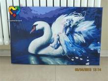 painting swan OEM/wholesale diy digital oil painting
