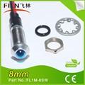 8mm 3v de metal azul luz de reno con trineo con luces de alambre