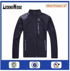 OEM service fitted ultralight black leather sport jacket with rib cuff
